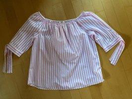 Milano Carmen Blouse white-pink