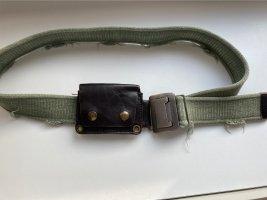Cinturón de lona caqui