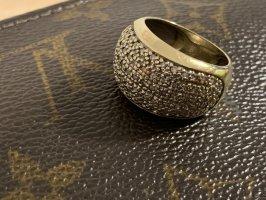 Millionärs Ring mit 1 carat brilliant 14k gold