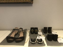 Mime et moi Strapped Sandals black leather
