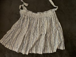 Traditional Apron white-blue