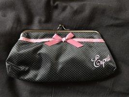 Mini-Handtasche / großer Clip-Geldbeutel Esprit, Polkadots gepunktet Schleife, ca. 18 x 10 cm