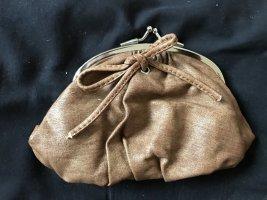 Mini-Handtasche / großer Clip-Geldbeutel Friis Company braun Schleife Innenfach, 19 x 11 cm