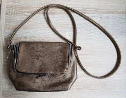 Mini Handtasche in Metallic-Optik