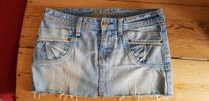 Fishbone Gonna di jeans multicolore Cotone