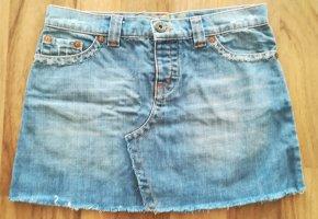 Oasis Denim Skirt pale blue-blue cotton