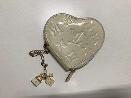 Mini Portemonnaie Louis Vuitton cremeweiß Herz