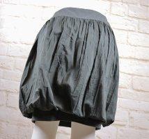 Mini Rock Ballonrock Trixen Rees Größe M 38 Schwarz Grün Grau Jersey Seide Baumwolle