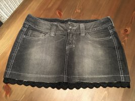 Mini Rock Jeans Look grau 36 Amisu
