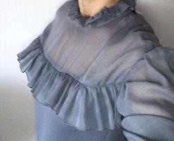 Mini-Strickkleid  mit Organza von Zara
