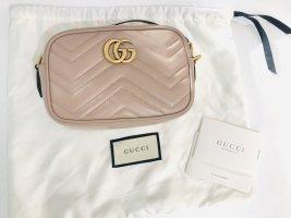 Gucci Schoudertas stoffig roze-goud Leer