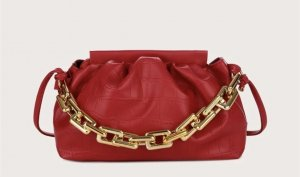 100% Fashion Handtas rood