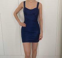 BCBG Maxazria Mini Dress blue mixture fibre