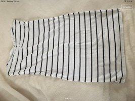 H&M Divided Sukienka z dekoltem typu bandeau biały-czarny