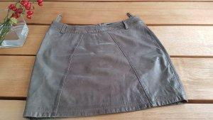 Passport Falda de cuero marrón grisáceo
