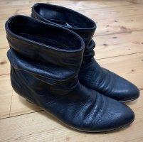 minimalistische schwarze Leder Schlüpf Stiefeletten von Tamaris Gr. 37 TOP