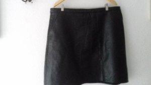BODY FLIRT Faux Leather Skirt black polyurethane
