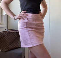Pull & Bear Faux Leather Skirt dusky pink-pink