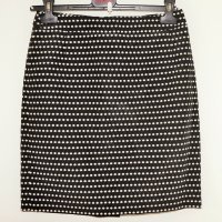 Max Mara Mini rok wit-zwart Zijde