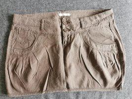 Only Spódnica mini szaro-brązowy