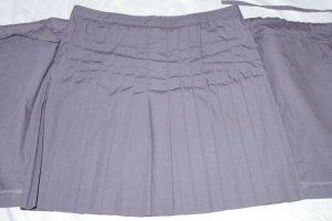 Comptoir des Cotonniers Pleated Skirt grey cotton