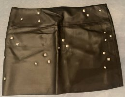 okay Faux Leather Skirt black