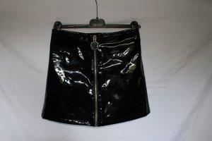 Mango Mini-jupe noir-argenté tissu mixte