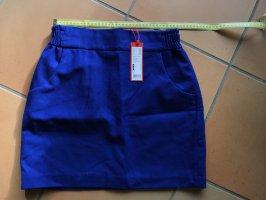 Esprit Wollen rok blauw-goud