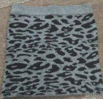 Fishbone Mini rok zwart-antraciet