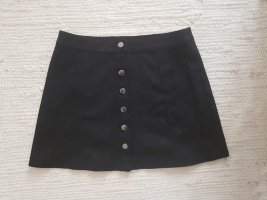Zara Faux Leather Skirt black mixture fibre