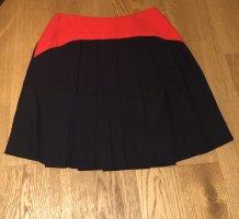 Miu Miu Plaid Skirt dark blue-brick red