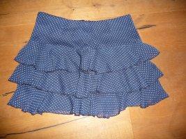 Orsay Plaid Skirt white-dark blue polyester