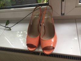 Minozzi Peep Toes aprico-lachsfarben 39