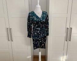 Mint&Berry Wickelkleid Samtkleid Kleid Samt Samtwickelkleid Blumenkleid Blumen geblümt Gr 34
