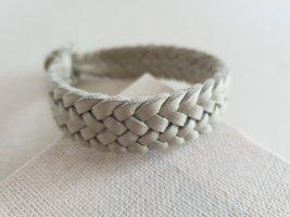 Bracelet en cuir gris vert-bleu pâle