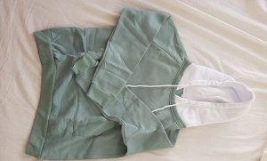 SheIn Pull à capuche blanc-vert menthe