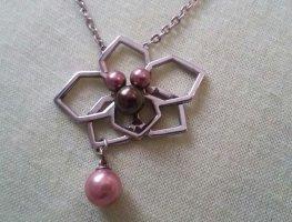 """Misaki Halskette """"Orchidee"""" silber Kette Collier Perlen QCRPORCHIDEE"""