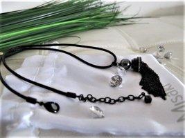 MISAKI Kette schwarz mit Lederband