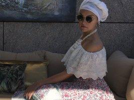 Miss June Abito hippie multicolore