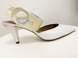 Miss sixty Leder Pumps High heels cremefarben NEU Gr. 39-40