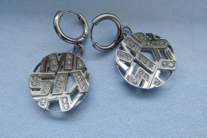 Miss Sixty Boucles d'oreilles en argent argenté métal