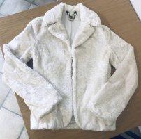 Miss Sixty Giacca in eco pelliccia bianco sporco