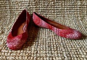 Missoni Classic Ballet Flats dark red-oatmeal