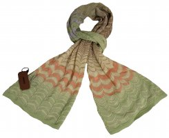 Missoni Knitted Scarf multicolored cotton