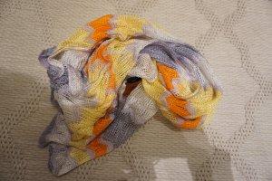 Missoni Szydełkowany szalik bladożółty-jasnozielony