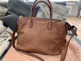 Miu Miu Handbag brown-gold-colored leather