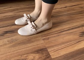 Miu Miu Ballerina di pelle verniciata multicolore