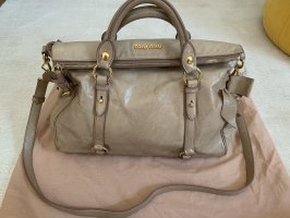 Miu Miu Bow Bag Tasche aus Leder in Beige