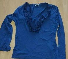 Miu Miu Bluzka z falbankami niebieski