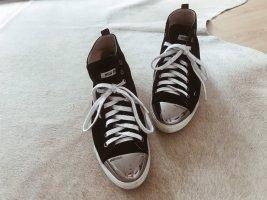 Miu Miu by Prada sneaker Schuhe Leder mit silberner Kappe